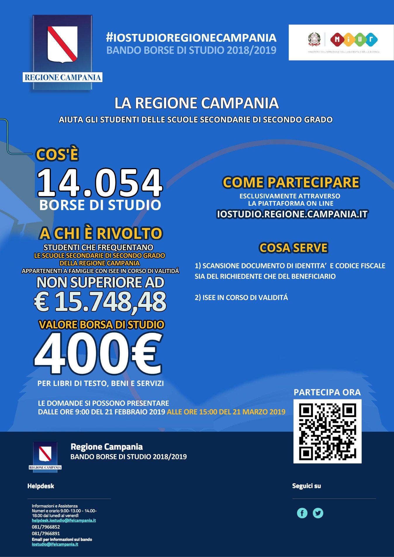 sito ufficiale cercare brillante nella lucentezza IOSTUDIOREGIONECAMPANIA: 14054 BORSE DI STUDIO PER I RAGAZZI ...
