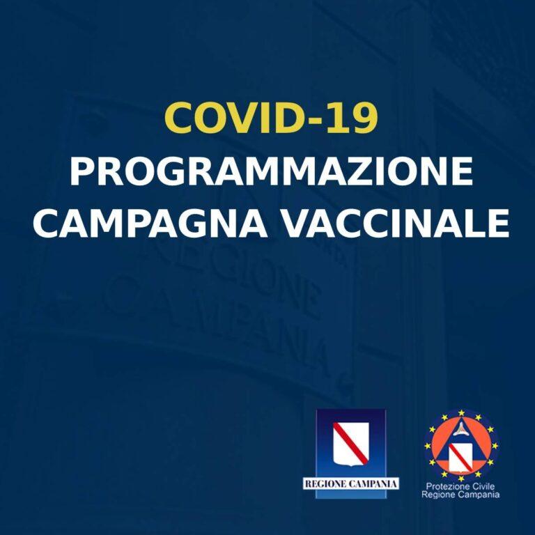 COVID-19, LA PROGRAMMAZIONE DELLA CAMPAGNA VACCINALE IN CAMPANIA